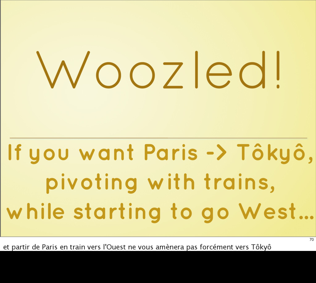 If you want Paris -> Tôkyô, pivoting with train...