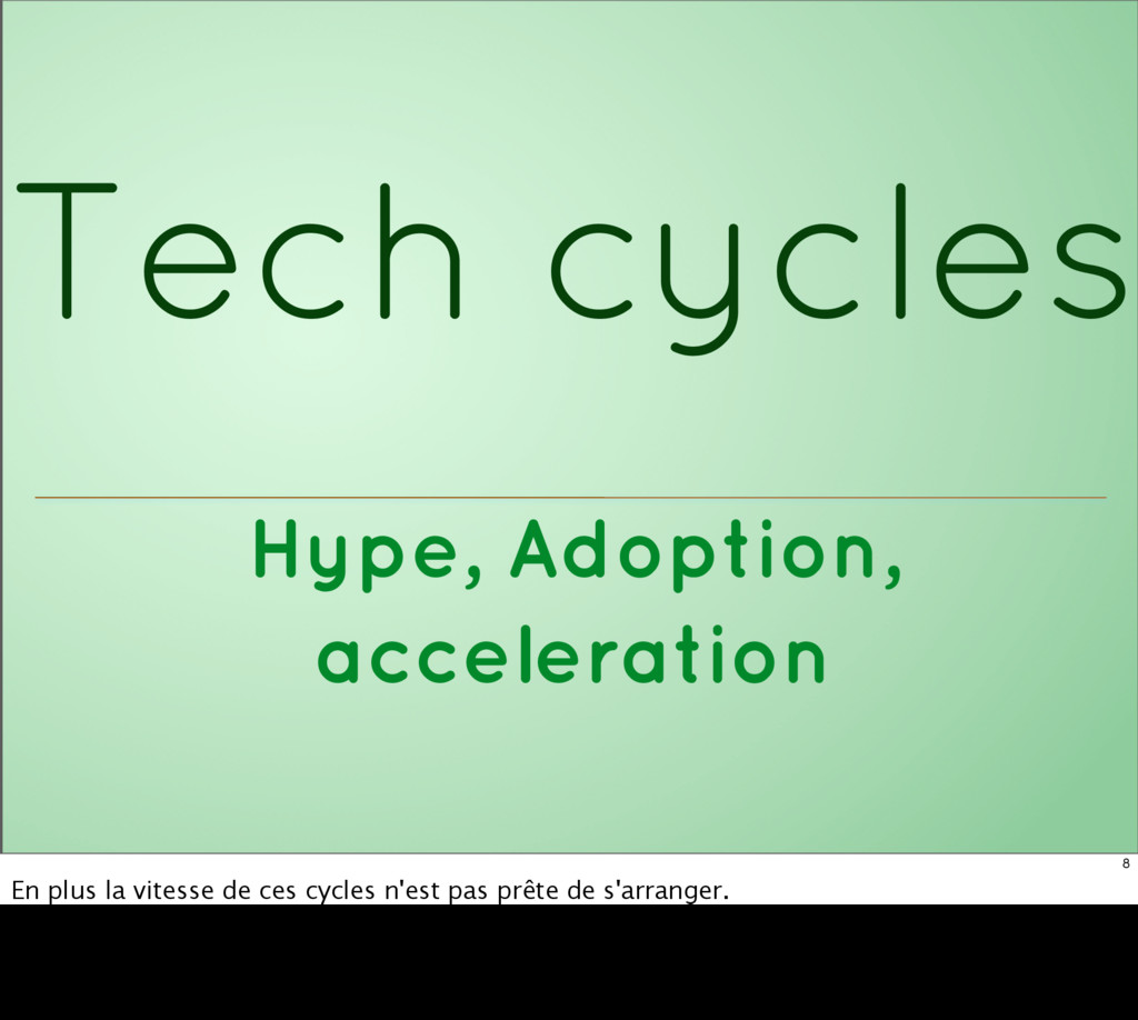 Hype, Adoption, acceleration Tech cycles 8 En p...