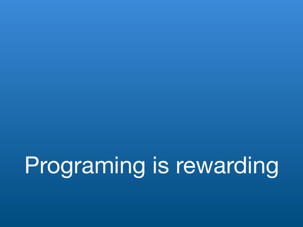 Programing is rewarding