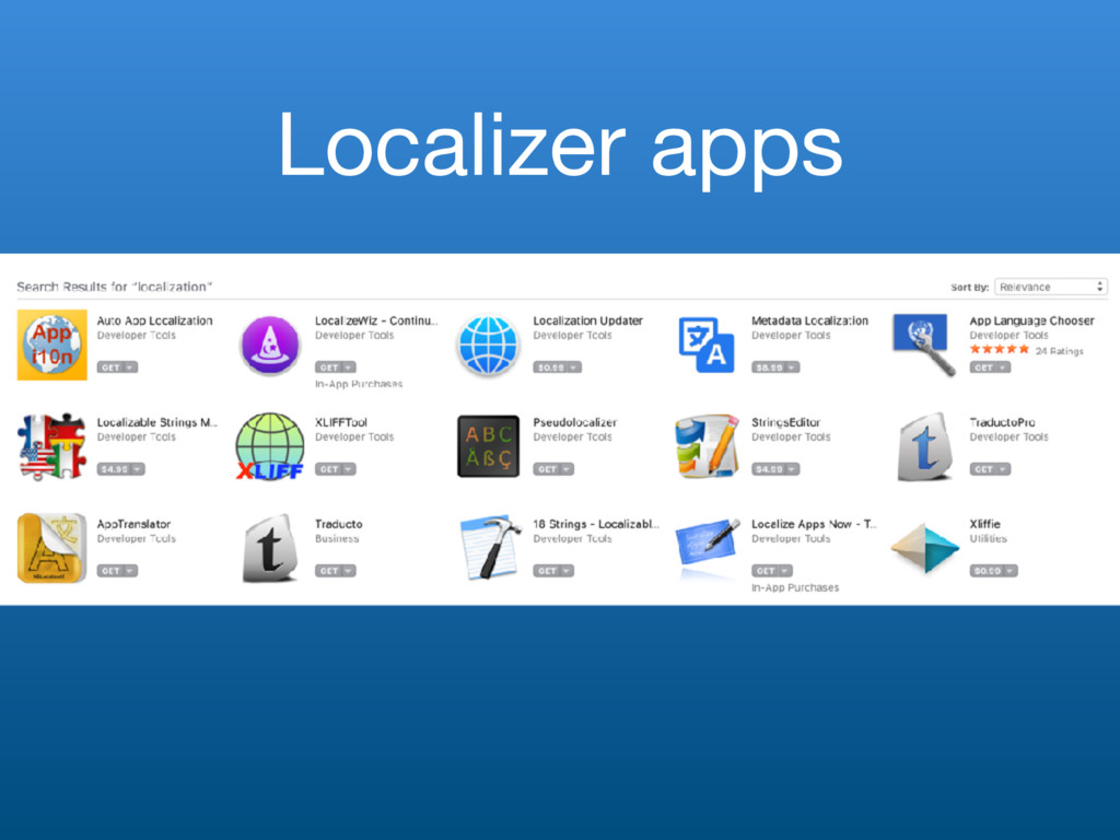 Localizer apps
