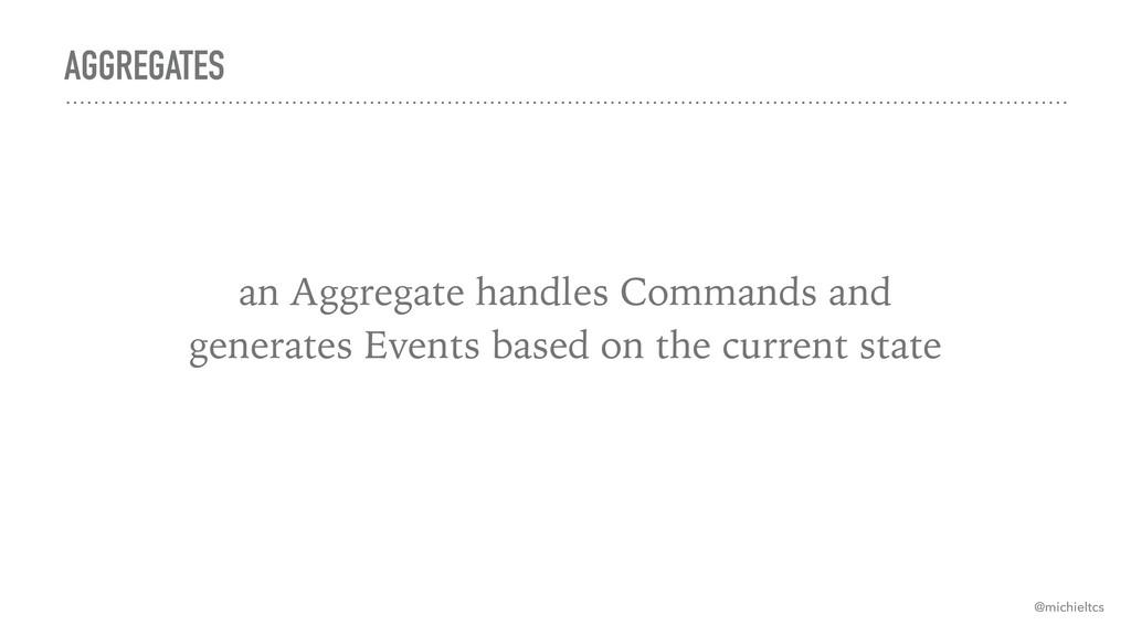 AGGREGATES @michieltcs an Aggregate handles Com...