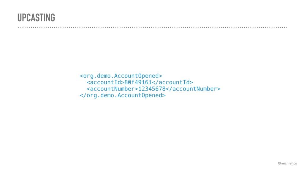UPCASTING @michieltcs <org.demo.AccountOpened>...