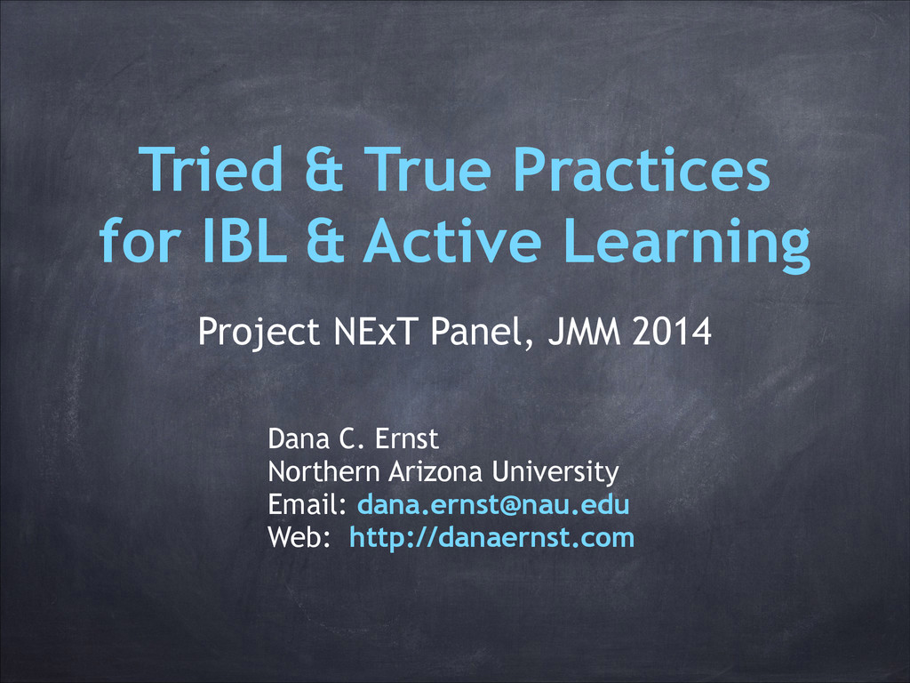 Tried & True Practices for IBL & Active Learnin...