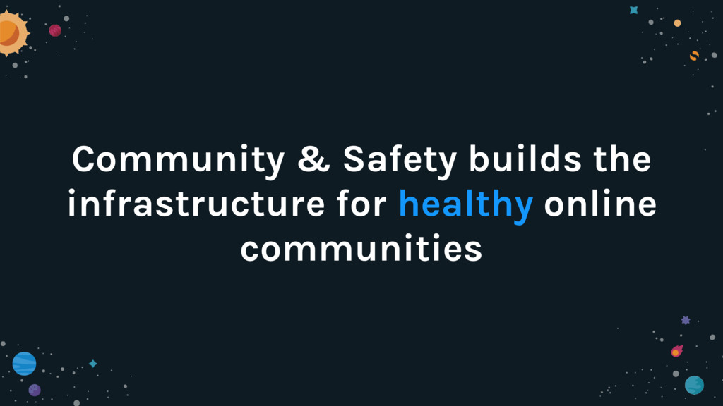 Community & Safety builds the infrastructure fo...