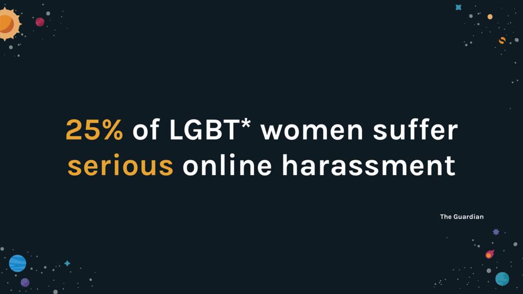 25% of LGBT* women suffer serious online harass...