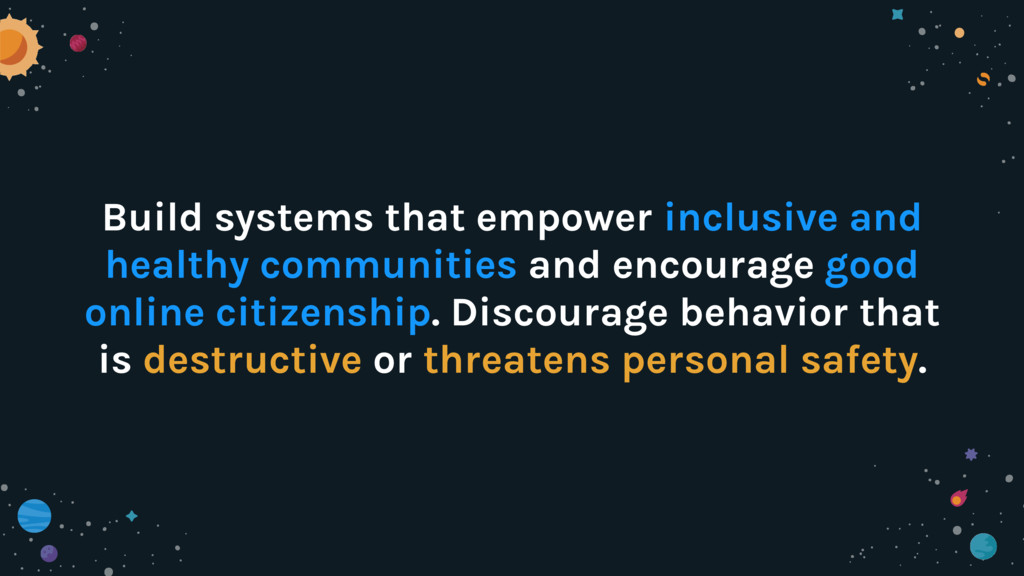 Build systems that empower inclusive and health...