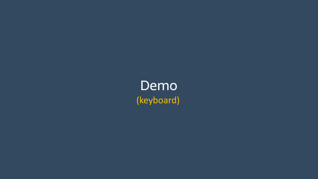 Demo (keyboard)