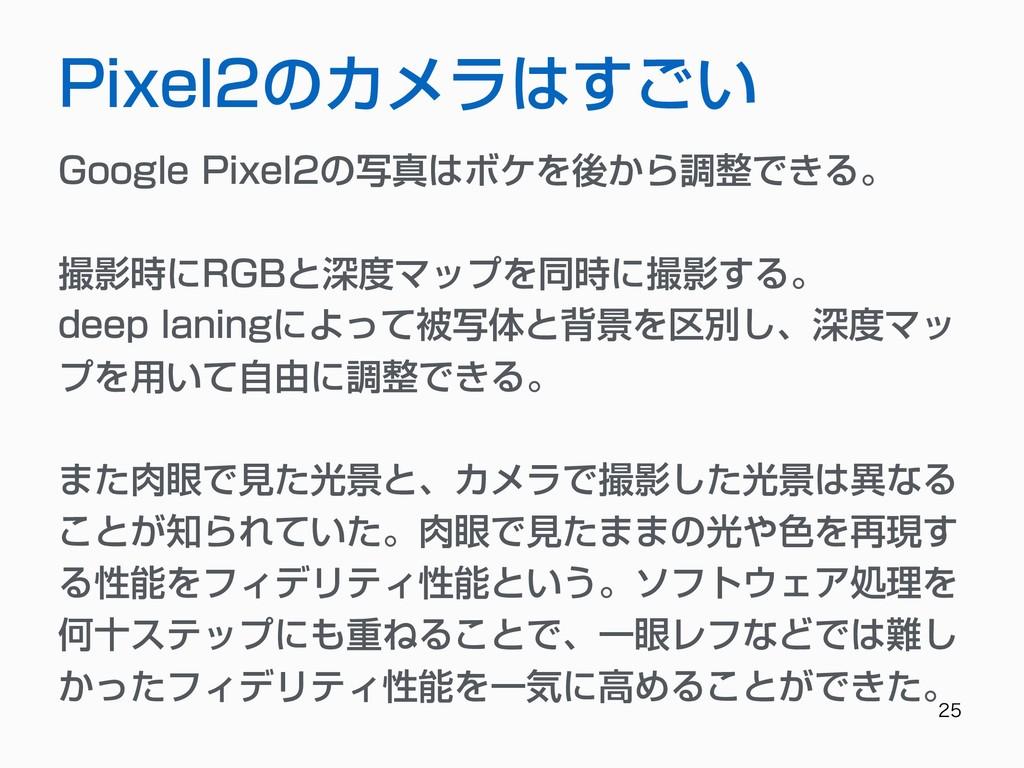 Pixel2のカメラはすごい Google Pixel2の写真はボケを後から調整でき...