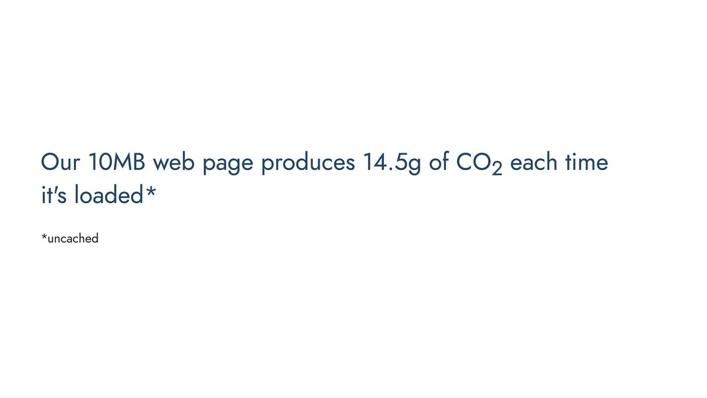 Our 10MB web page produces 14.5g of CO2 each ti...
