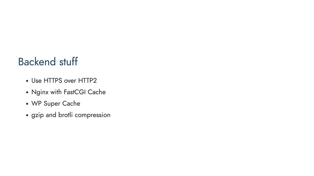Backend stuff Use HTTPS over HTTP2 Nginx with F...