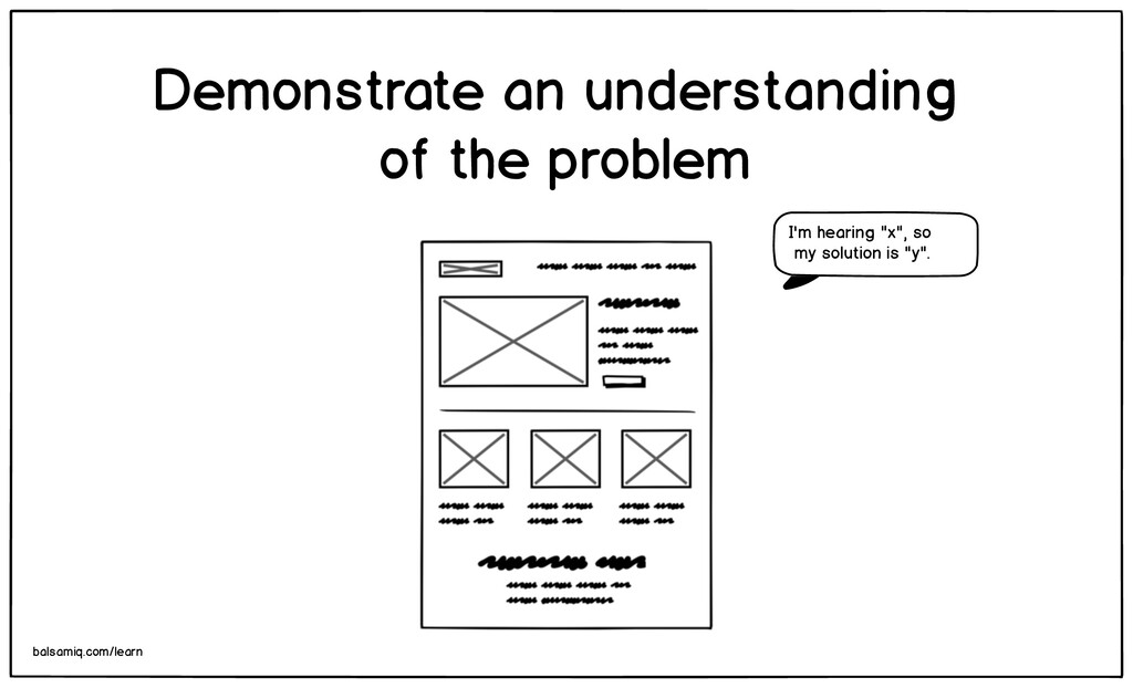 Demonstrate an understanding of the problem bal...