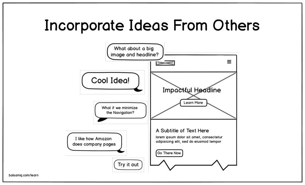 Incorporate Ideas From Others balsamiq.com/learn