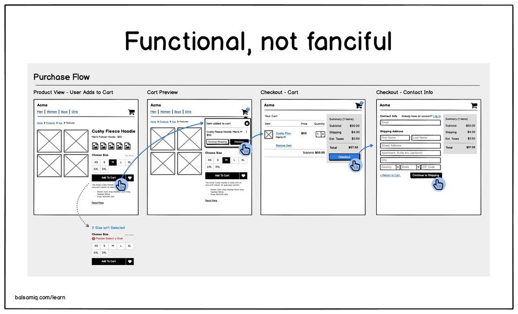 Functional, not fanciful balsamiq.com/learn