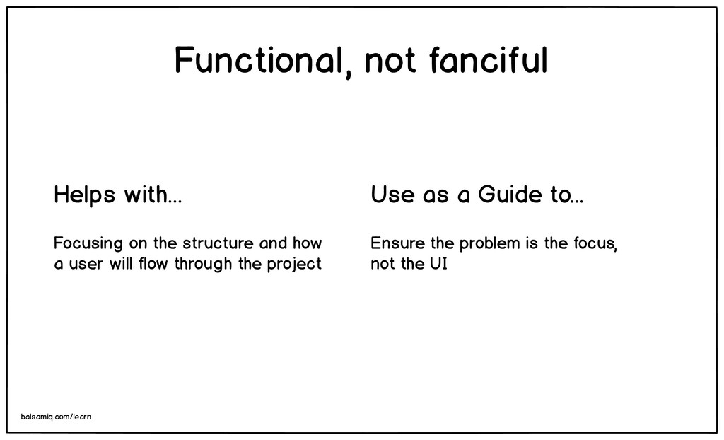 Ensure the problem is the focus, not the UI Fun...