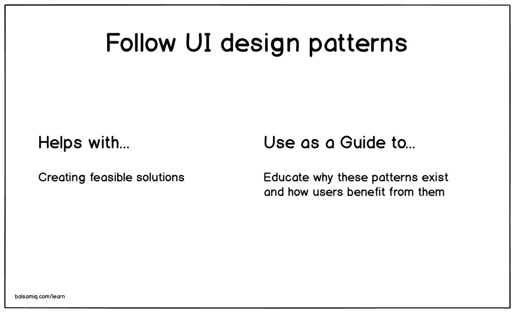 Educate why these patterns exist and how users ...