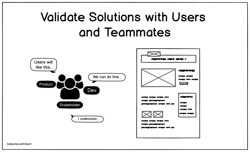 Validate Solutions with Users and Teammates bal...