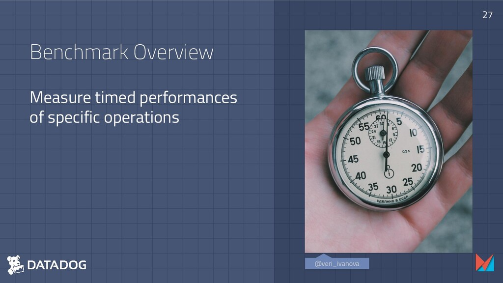 Benchmark Overview Measure timed performances o...