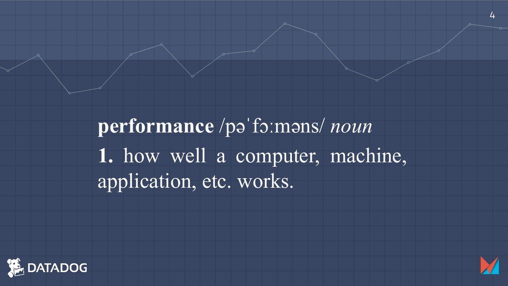 performance /pəˈfɔːməns/ noun 1. how well a com...