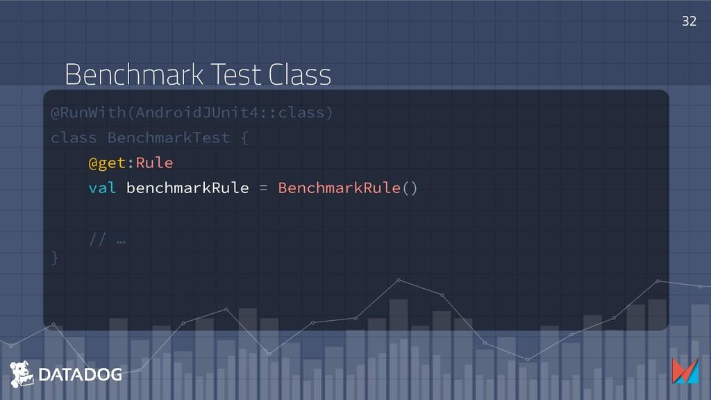 @RunWith(AndroidJUnit4::class) class BenchmarkT...