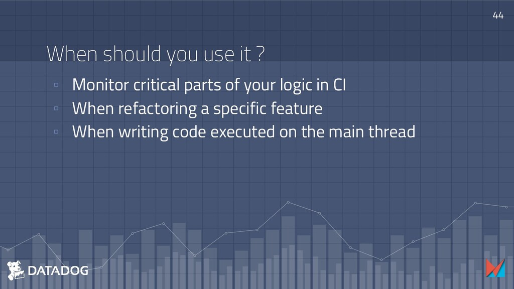 When should you use it ? ▫ Monitor critical par...