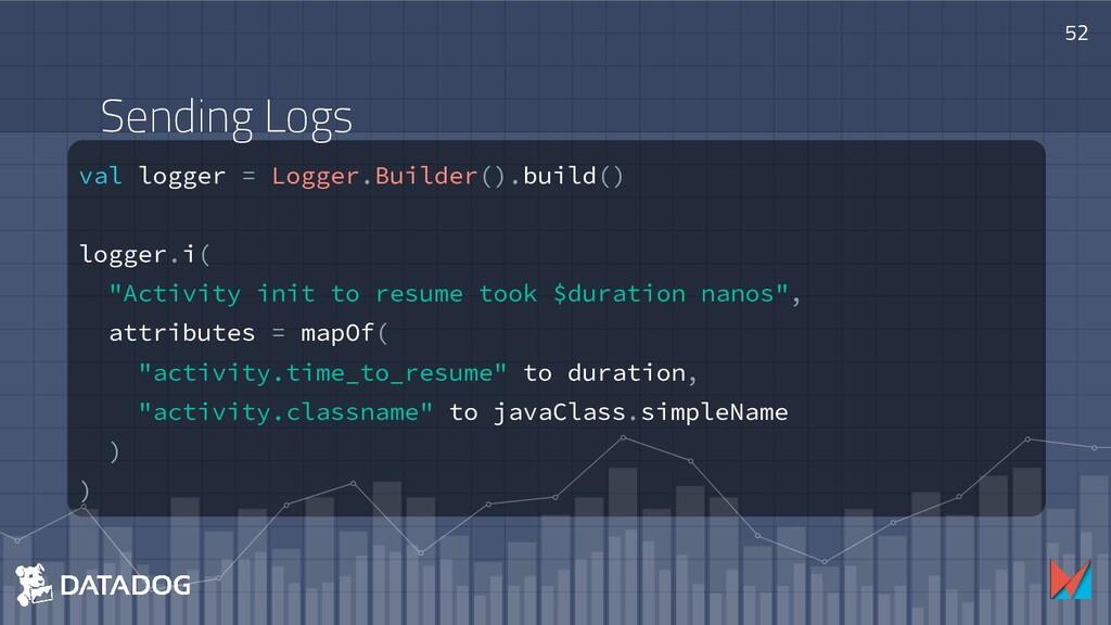 52 val logger = Logger.Builder().build() logger...