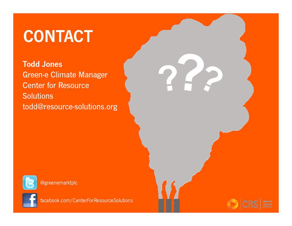 Todd Jones Green-e Climate Manager Center for R...