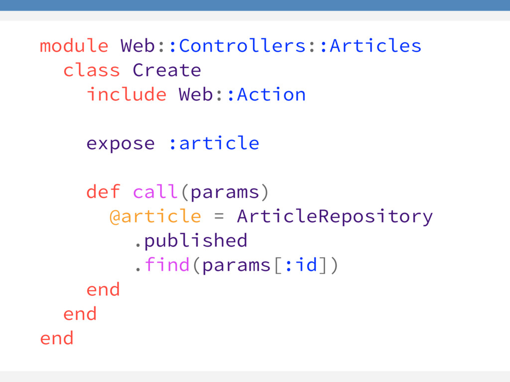 module Web::Controllers::Articles class Create ...