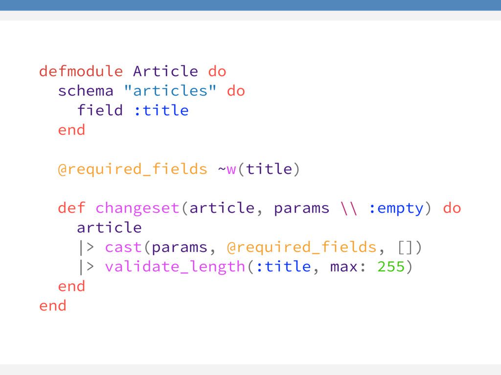"defmodule Article do schema ""articles"" do field..."