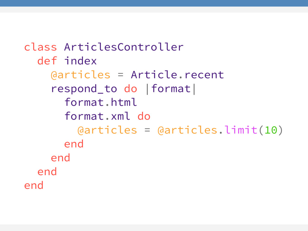 class ArticlesController def index @articles = ...