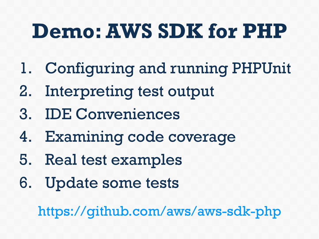 Demo: AWS SDK for PHP 1. Configuring and runni...