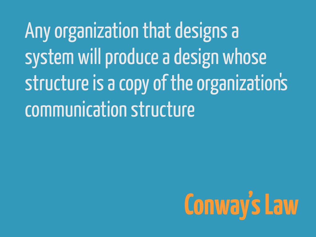 Any organization that designs a system will pro...
