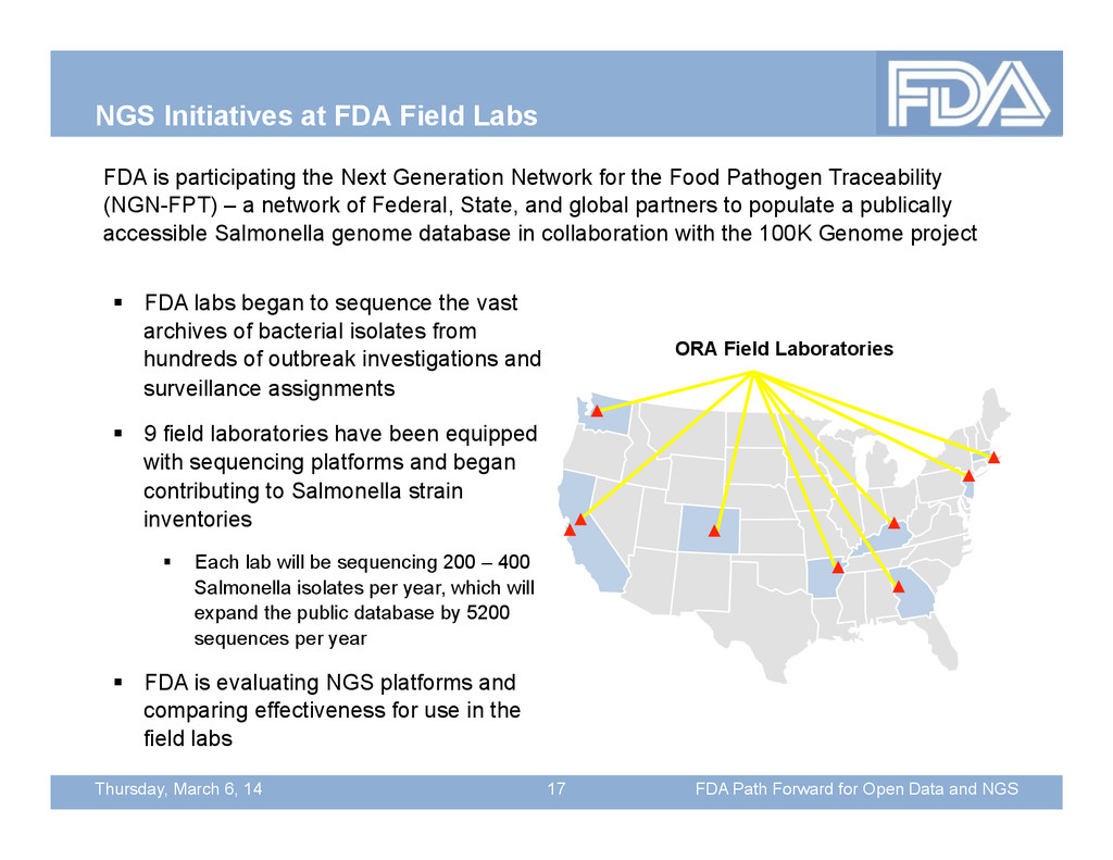 Thursday, March 6, 14 NGS Initiatives at FDA Fi...