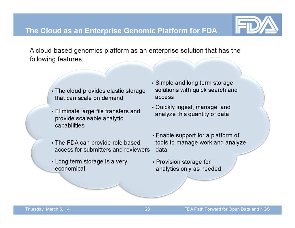 Thursday, March 6, 14 The Cloud as an Enterpris...