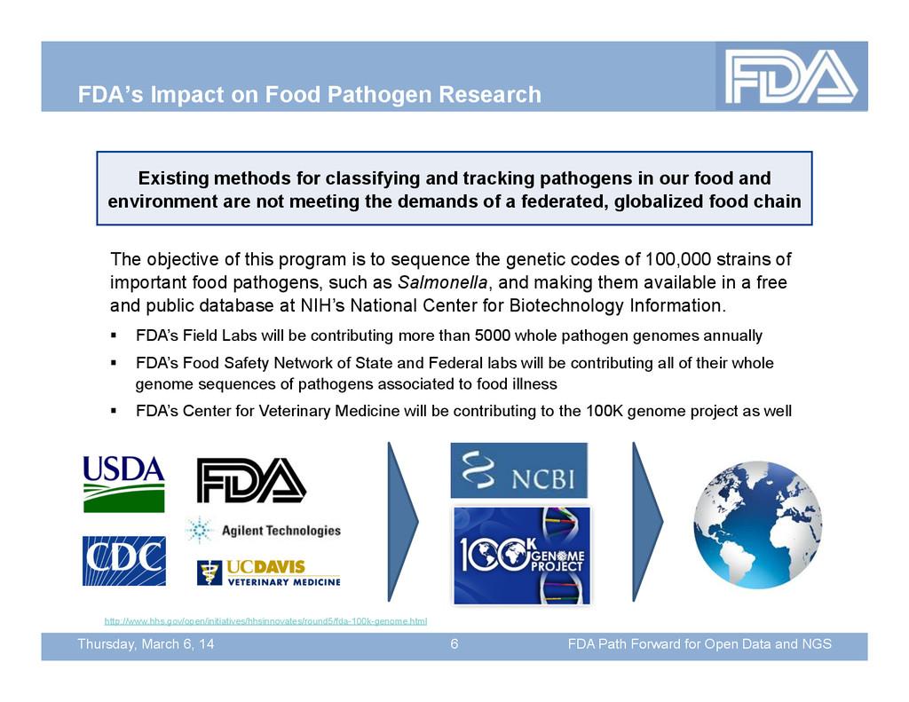 Thursday, March 6, 14 FDA's Impact on Food Path...