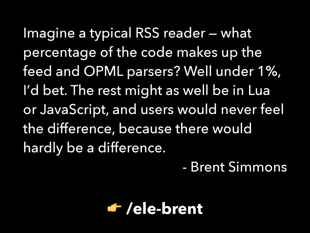 Imagine a typical RSS reader — what percentage ...