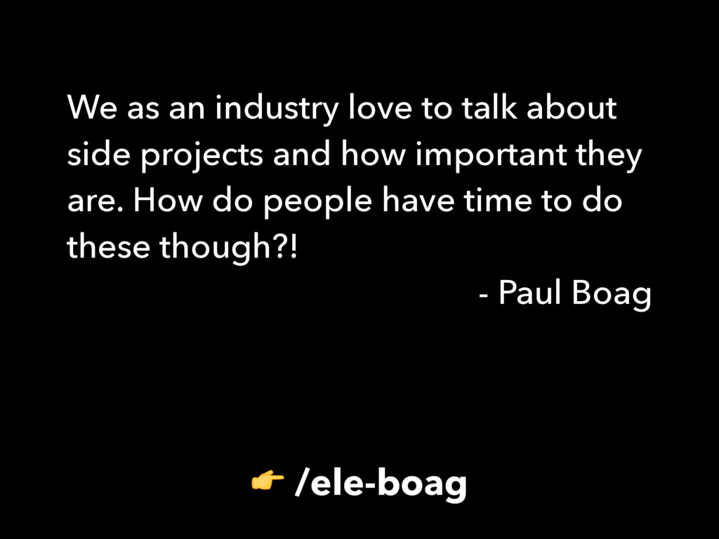 /ele-boag We as an industry love to talk about...