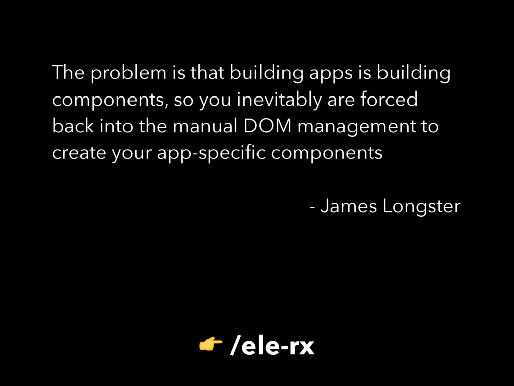 The problem is that building apps is building c...