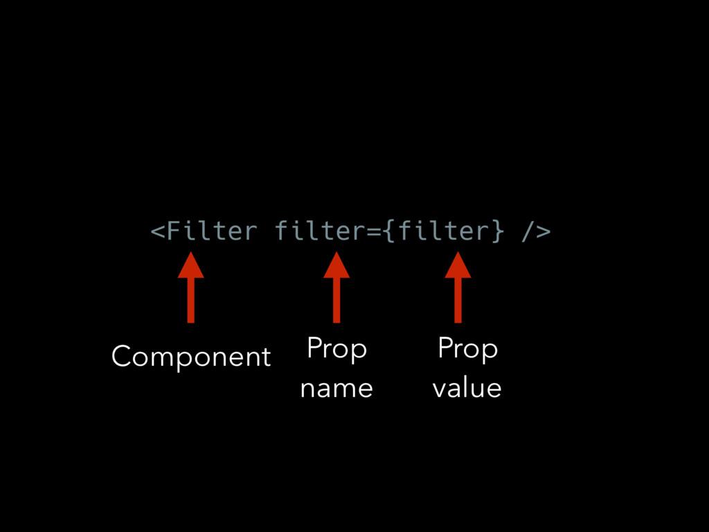 <Filter filter={filter} /> Component Prop name ...