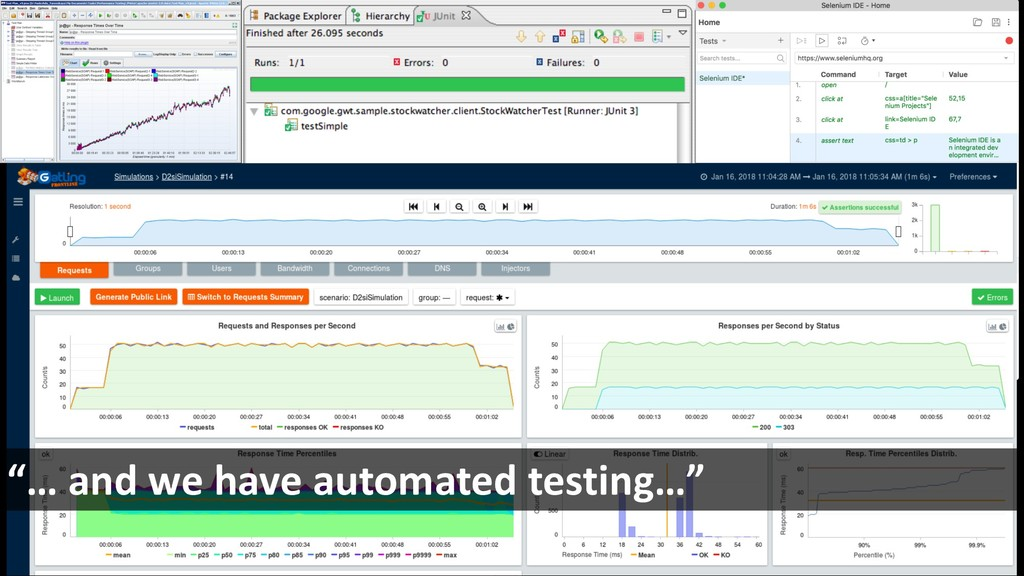 """""""… and we have automated testing…"""""""