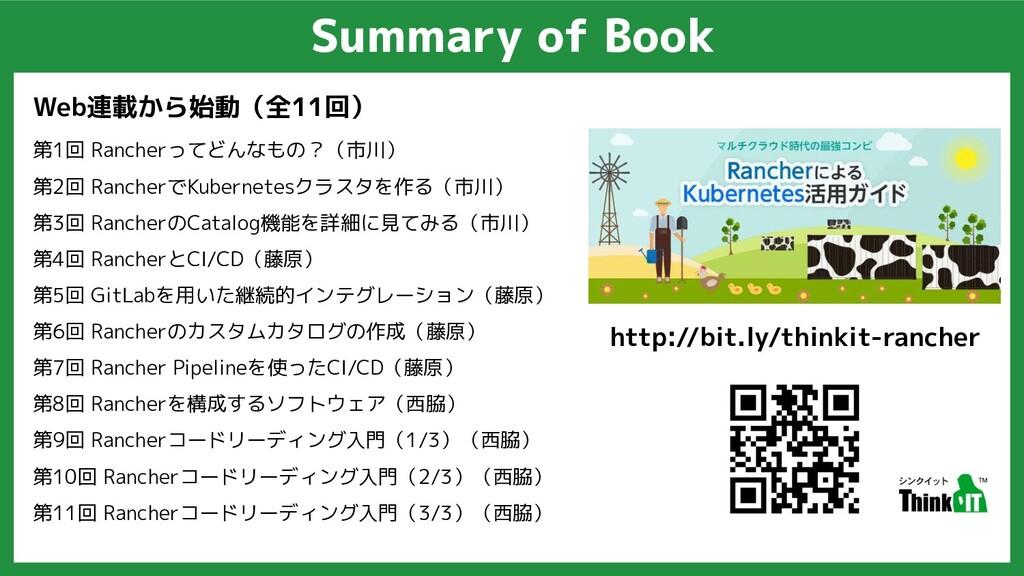 Summary of Book Web連載から始動(全11回) 第1回 Rancherってどん...