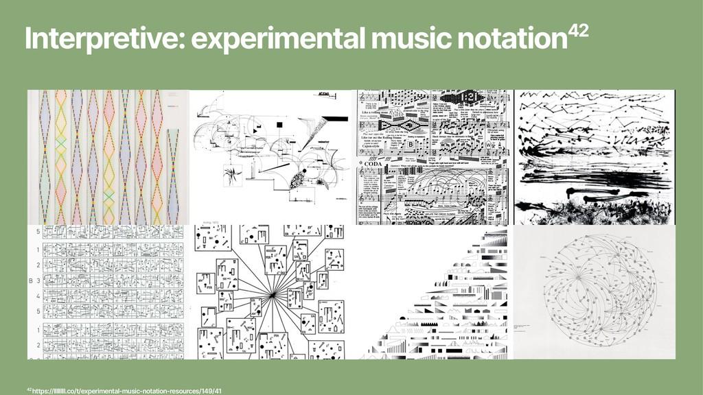 Interpretive: experimental music notation42 42 ...