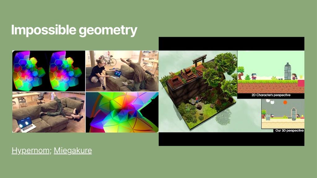 Impossible geometry Hypernom; Miegakure