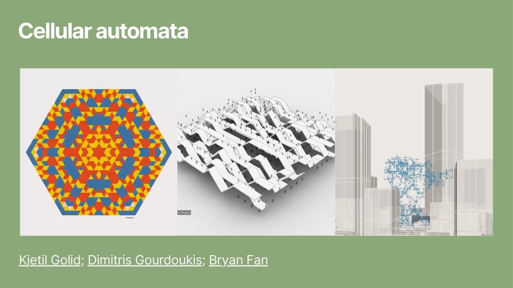 Cellular automata Kjetil Golid; Dimitris Gourdo...