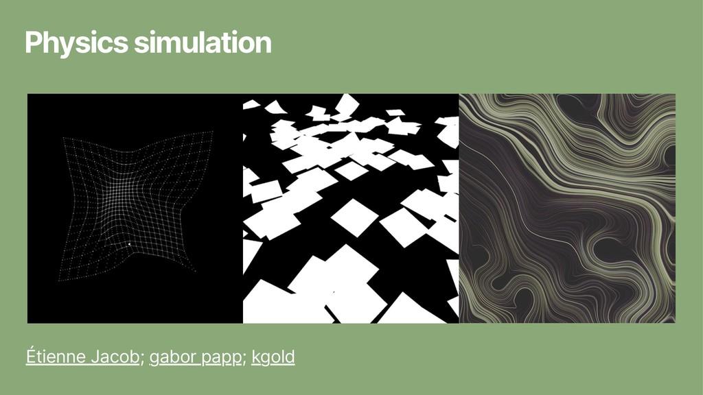 Physics simulation Étienne Jacob; gabor papp; k...
