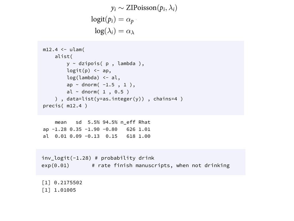 ZJ ∼ ;*1PJTTPO(QJ, λJ) MPHJU(QJ) = αQ + βQ YJ M...