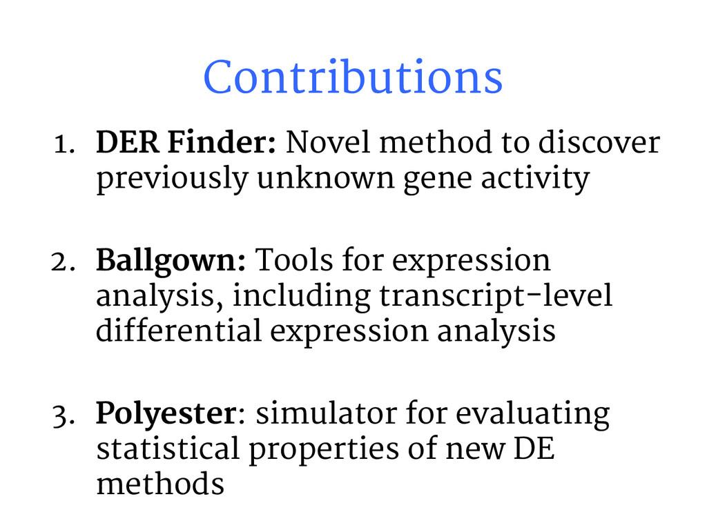 Contributions 1. DER Finder: Novel method to di...