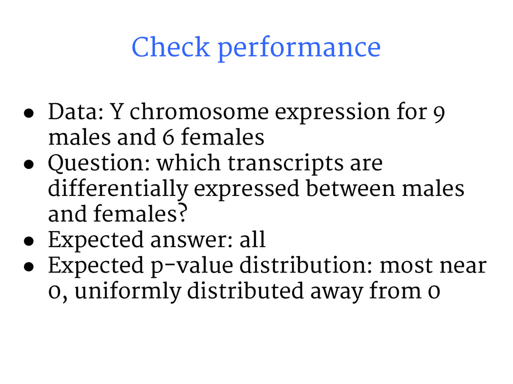 ● Data: Y chromosome expression for 9 males and...