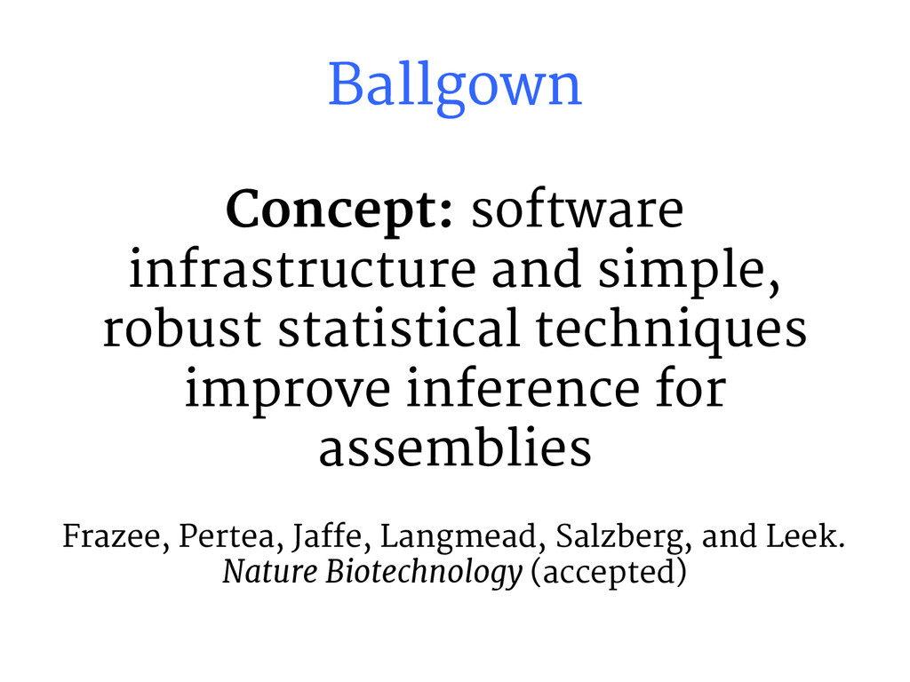 Concept: software infrastructure and simple, ro...