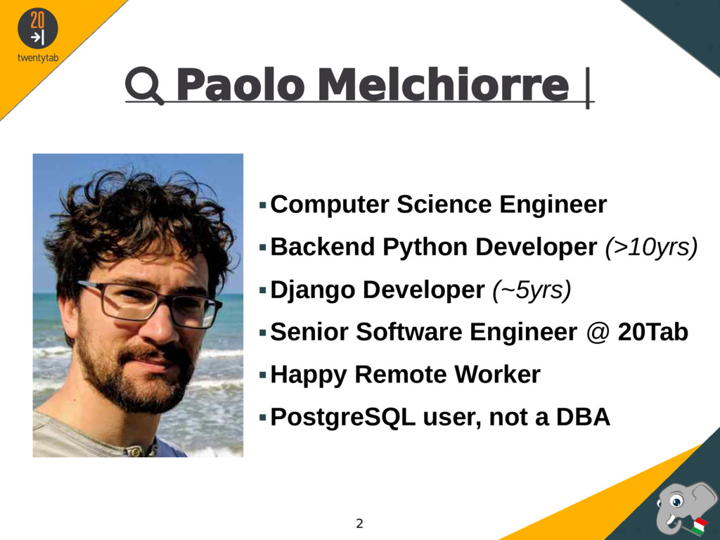  Paolo Melchiorre | ▪Computer Science Engineer...