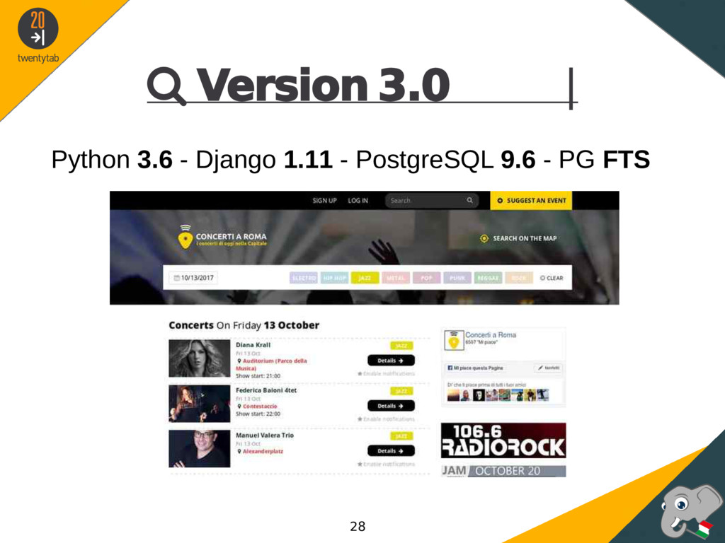  Version 3.0 | Python 3.6 - Django 1.11 - Post...